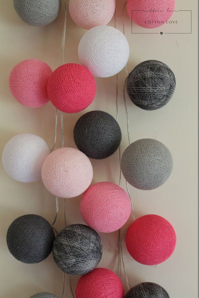 cotton ball balls lighting cotton ball lights sklep cotton balls polly love. Black Bedroom Furniture Sets. Home Design Ideas