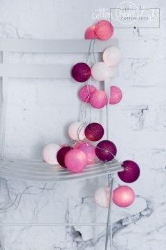 Cotton Balls Sweet Pink by Cotton Ball Lights