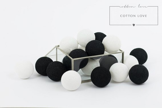 COTTON BALLS BLACK & WHITE