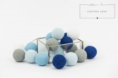 COTTON BALLS BLUE MARINE