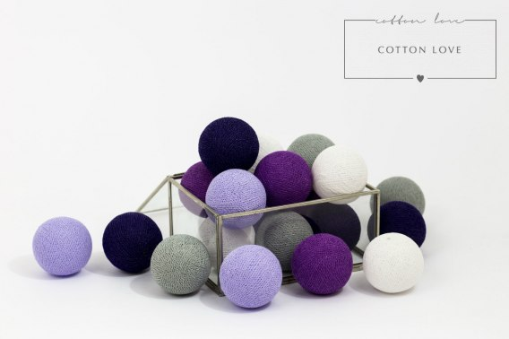 COTTON BALLS VIOLETS BY COTTONOVE