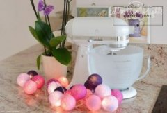 Cotton Balls Violets by Cotton Ball Lights