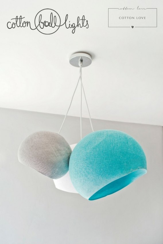 Cotton Ball Lamp XL 41 cm OPEN 3/4 !!! Nowa cena