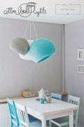 Cotton Ball Lamp L 36 cm